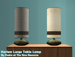 Sims 2 — Harlem II - Large Ceramic Table Lamp by Padre — More Mid Century style items for your cool mid-century sims