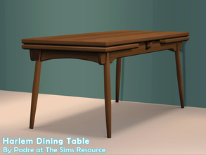Sims 2 — Harlem II - Dining Table by Padre — More Mid Century style items for your cool mid-century sims