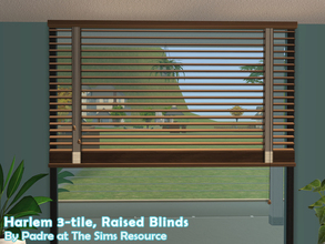Sims 2 — Harlem II - Blinds 3-tile Raised by Padre — More Mid Century style items for your cool mid-century sims