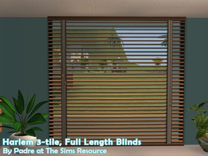 Sims 2 — Harlem II - Blinds 3-tile by Padre — More Mid Century style items for your cool mid-century sims