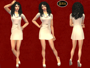 Sims 2 — ASA_Dress_145_AF by Gribko_Sveta — Beige daily for women TS2