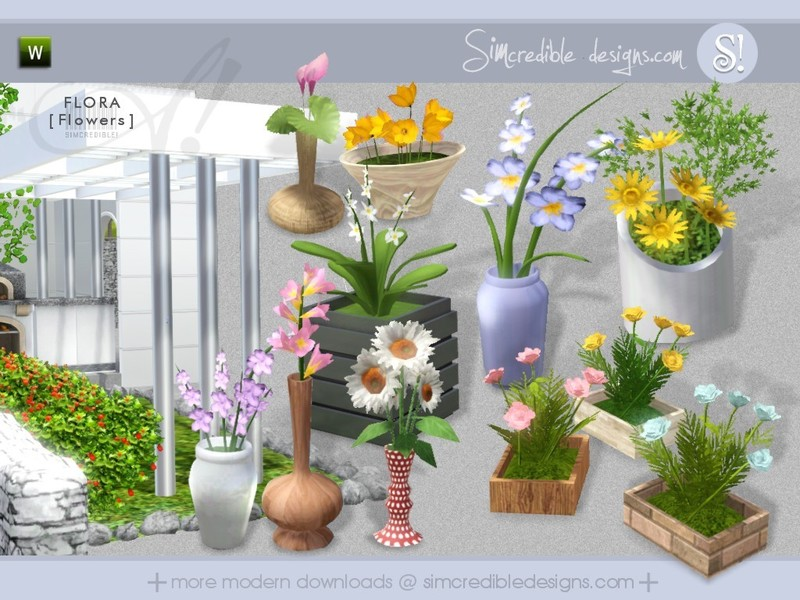 Simcredible 39 s flora flowers for Indoor gardening sims 4