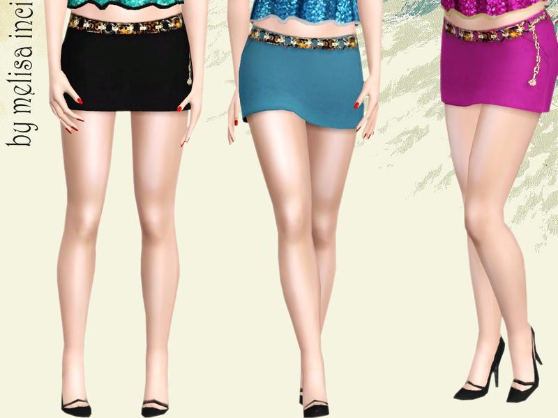 Мини юбки для sims 4