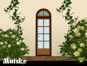 Sims 3 — Sevilla Door Single 2x1 by Mutske — This door is part of the Sevilla Contructionset. 4 Recolorable parts. Made