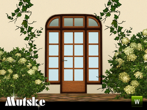 Sims 3 — Sevilla Door 2x1 by Mutske — This door is part of the Sevilla Contructionset. 4 Recolorable parts. Made by