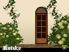 Sims 3 — Sevilla Privat Door 1x1 by Mutske — This door is part of the Sevilla Contructionset. 4 Recolorable parts. Made