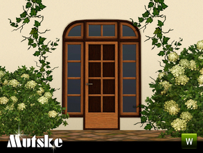 Sims 3 — Sevilla Privat Door 2x1 by Mutske — This door is part of the Sevilla Contructionset. 4 Recolorable parts. Made