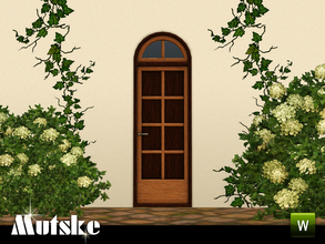 Sims 3 — Sevilla Privat Door Single 2x1 by Mutske — This door is part of the Sevilla Contructionset. 4 Recolorable parts.