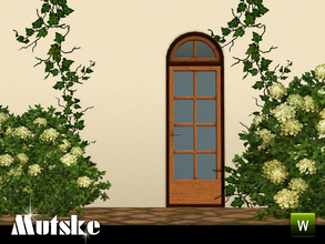 Sims 3 — Sevilla Door 1x1 by Mutske — This door is part of the Sevilla Contructionset. 4 Recolorable parts. Made by
