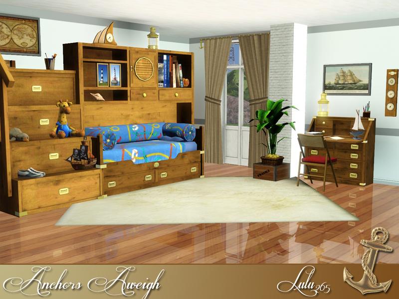 Lulu265s Anchors Aweigh Teen Bedroom ~ 164505_Sims 3 Dorm Room Ideas