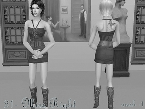 Sims 2 —  Mesh Serasims Closminidresswithcuffs 140107 by Well_sims — Mesh for you :))