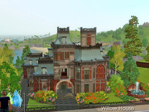 Sims 3 — Willow House by qubedesign — Another scary, over-the-top Gothic Victorian Revival from QubeDesign. Two bedrooms,