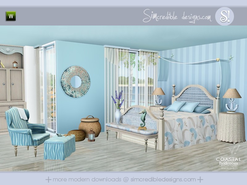Bedroom Designs Sims 3 simcredible!'s coastal bedroom