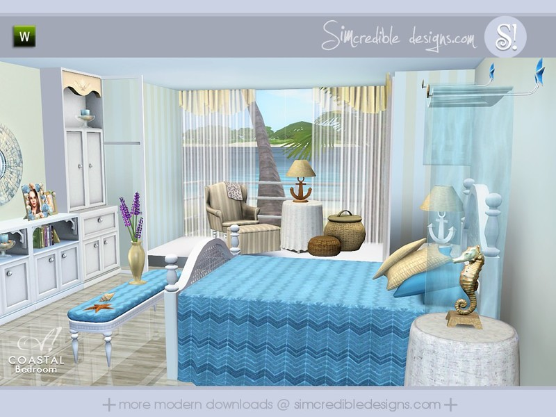 simcredible!'s coastal bedroom