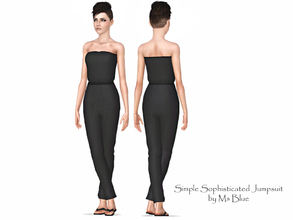 Sims 3 — Simple Sophisticated Jumpsuit by Ms_Blue — Well the name says it all. A simple sophisticated strapless jumpsuit