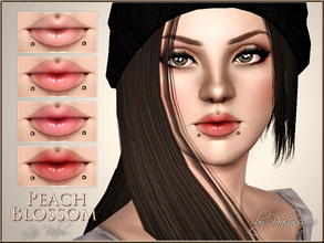 Sims 3 — Peach Blossom Lip Balm by Pralinesims — New realistic, semi-sheer lipbalm for your sims! Your sims will love