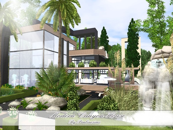 Pralinesims 39 modern canyon house for Home design resources