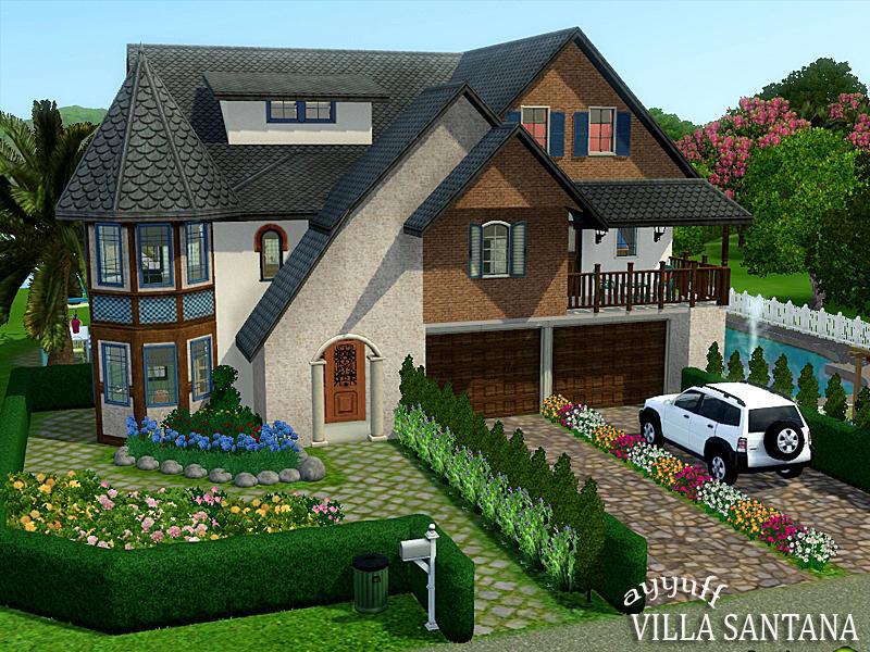 Ayyuff 39 s villa santana furnished for Construire une maison sims 3 xbox 360