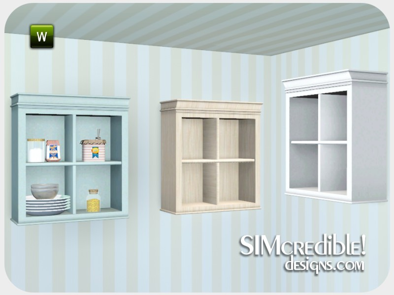 Simcredible 39 s coastal kitchen cabinet without doors for Kitchen cabinets without doors