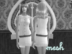 Sims 2 —  Mesh Helaene Blouseddress 102805 by Well_sims — Mesh for you. :))