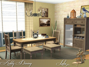 Sims 3 — Ashly Dining by Lulu265 — Enjoy romantic dinners and elegant meals at home with this stylish dining furniture