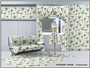 Sims 3 — Upright Rose_marcorse by marcorse — Themed pattern: upright pink rose stems in a regular repeat design