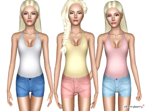 Sims 3 — Modern teen outfit by CherryBerrySim — Pretty outfit for teen female sims! Recolor how ever you want it to look!