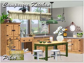 Sims 3 — Kitchen Campestre by Pilar — Country style, colors of the seasons and nature
