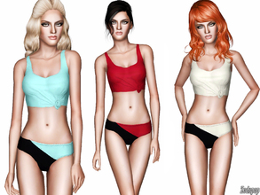 Sims 3 — Fashion Set 13 by zodapop — A sporty bra top is perfect for activities in and out of the water as it features