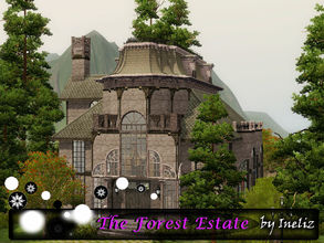 Sims 3 — The Forest Estate by Ineliz — The Forest Estate is a creepy house, hidden far away from the eyes of curious town
