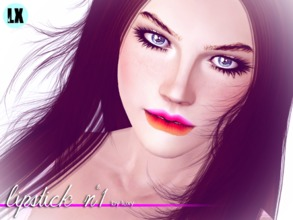 Sims 3 — Lipstick n1 by LuxySims3 — Original lipstick with three channels for females (young-adult).