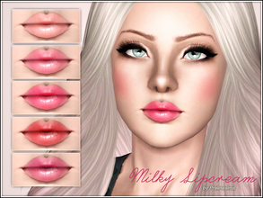 Sims 3 — Milky Lipcream by Pralinesims — New realistic lipstick for your sims! Your sims will love their new look ;) -