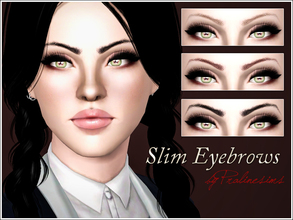 Sims 3 — Slim Eyebrows by Pralinesims — New realistic eyebrows for your sims! Your sims will love their new look ;) -