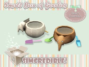 Sims 3 — Beach Essentials - Child Bucket *Toy* by SIMcredible! — It's SIMcredible! Small box of goodies #1 - Your lovely