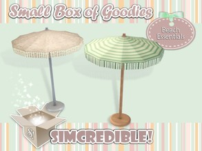 Sims 3 — Beach Essentials - Parasol *Decor* by SIMcredible! — It's SIMcredible! Small box of goodies #1 - Your lovely