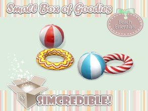 Sims 3 — Beach essentials - Buoy and Ball *Decor* by SIMcredible! — It's SIMcredible! Small box of goodies #1 - Your