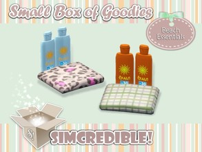 Sims 3 — Beach Essentials - Sun lotion *Decor* by SIMcredible! — It's SIMcredible! Small box of goodies #1 - Your lovely