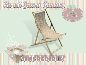 Sims 3 — Beach Essentials Chair by SIMcredible! — It's SIMcredible! Small box of goodies #1 - Your lovely source for