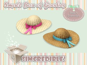 Sims 3 — Beach Essentials - Hat *Decor* by SIMcredible! — It's SIMcredible! Small box of goodies #1 - Your lovely source