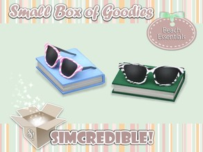 Sims 3 — Beach Essentials- Sunglasses and book *Decor* by SIMcredible! — It's SIMcredible! Small box of goodies #1 - Your