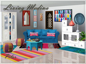 Sims 3 — Living Medina by Pilar — Objects to be used together or combined with other styles