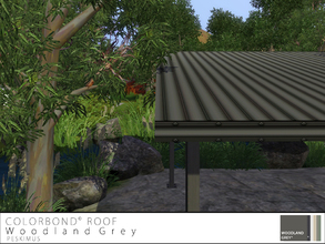 Sims 3 — Colorbond Roof - Woodland Grey by peskimus — The strongest of all tin roofs to survive any weather; rain, hail