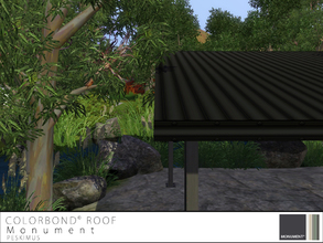 Sims 3 — Colorbond Roof - Monument by peskimus — The strongest of all tin roofs to survive any weather; rain, hail or