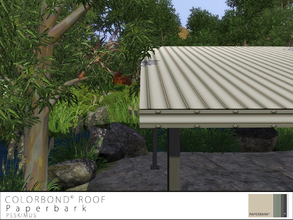 Sims 3 — Colorbond Roof - Paperbark by peskimus — The strongest of all tin roofs to survive any weather; rain, hail or