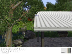 Sims 3 — Colorbond Roof - Surfmist by peskimus — The strongest of all tin roofs to survive any weather; rain, hail or