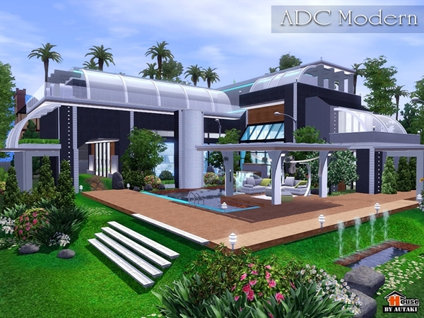 Autaki 39 s adc modern for Sims 4 modern house plans