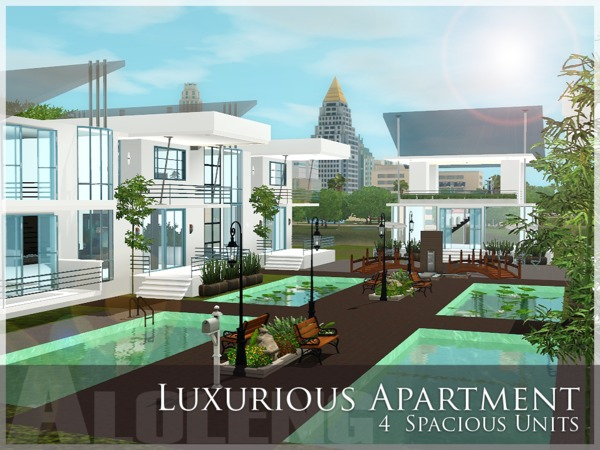 Aloleng 39 s luxurious apartment for Apartment design sims 3