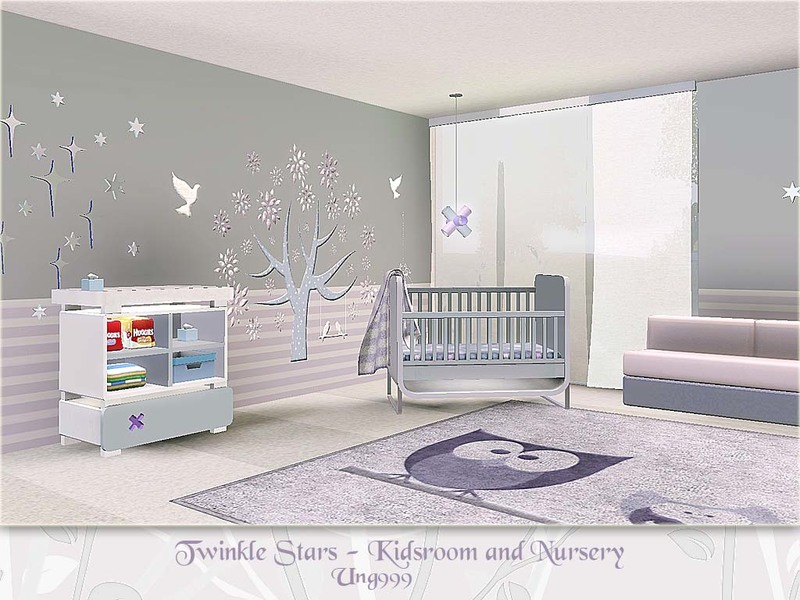 Ung999 39 s twinkle stars kids room and nursery - Sims 3 babyzimmer ...