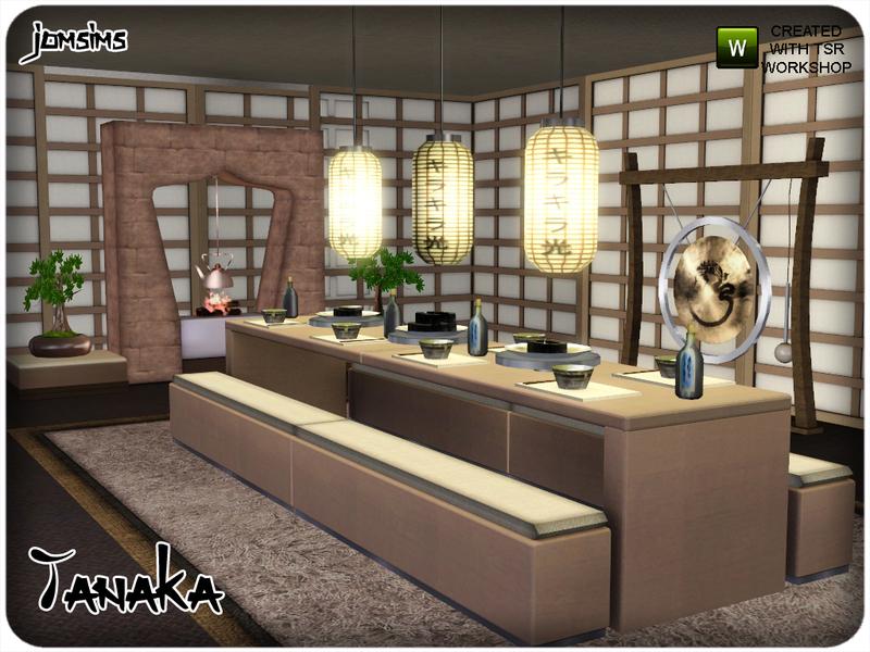 Jomsims 39 tanaka dining room for Dining room ideas sims 4