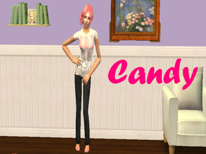 Sims 2 — Candy by cookiesandmilk5202 — This is probably the first sim I\'ve made where the entire face has been sculpted
